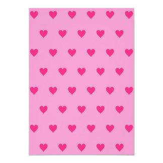 Color de fondo Editable - modelo rosado del Invitación 12,7 X 17,8 Cm