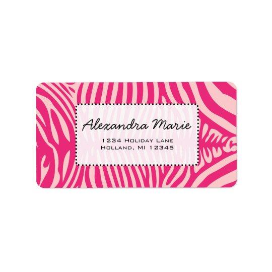 Color de fondo fucsia y rosado de cambio de piel etiqueta de dirección