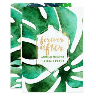 Color de fondo hawaiano de PixDezines Monstera/DIY Invitación 12,7 X 17,8 Cm