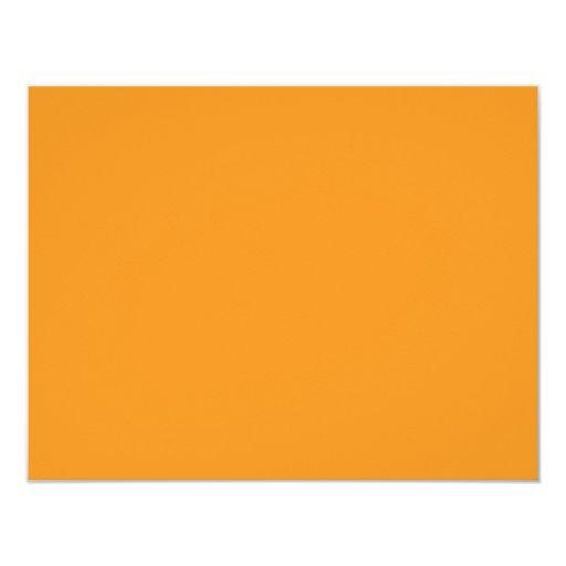 Color de fondo - naranja invitación 10,8 x 13,9 cm