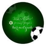 Color de la barra Mitzvah/DIY del fútbol de Invitación 13,3 Cm X 13,3cm