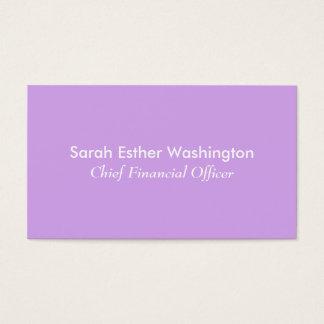 Color de la lavanda tarjeta de visita