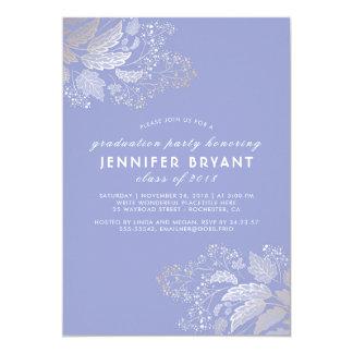Color de la lavanda y graduación elegantes del invitación 12,7 x 17,8 cm