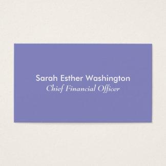 Color de la lila tarjeta de visita