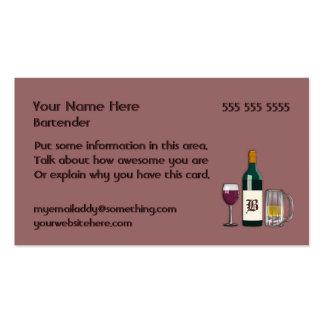 Color de malva del camarero tarjetas de visita