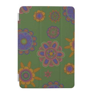 Color de malva y flores del oro cover de iPad mini