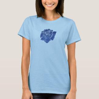 Color de rosa azul camiseta