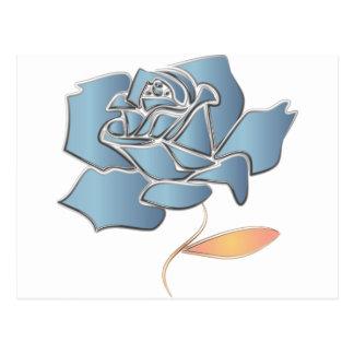 Color de rosa azul - fondo editable postal