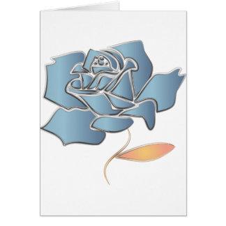 Color de rosa azul - fondo editable tarjeta de felicitación