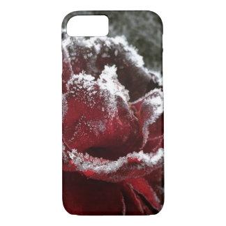 Color de rosa congelado funda iPhone 7