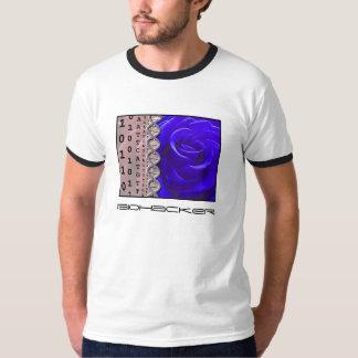 Color de rosa cortada camisetas