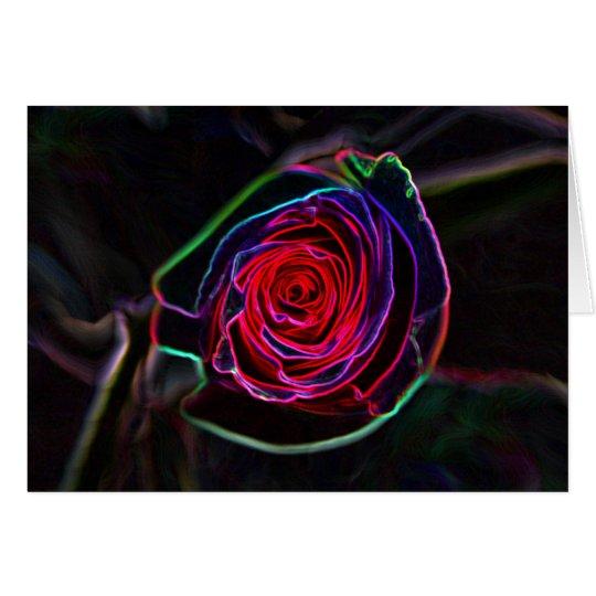 Color de rosa de neón tarjeta de felicitación