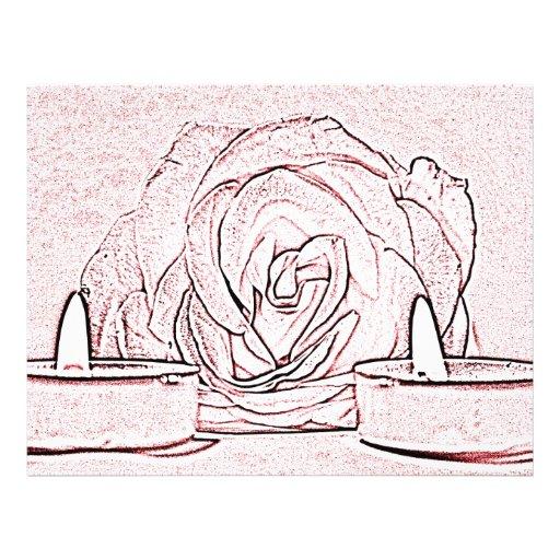 Color de rosa, dos velas ligeras del té, hechas en tarjetón