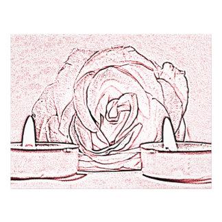Color de rosa, dos velas ligeras del té, hechas en folleto 21,6 x 28 cm