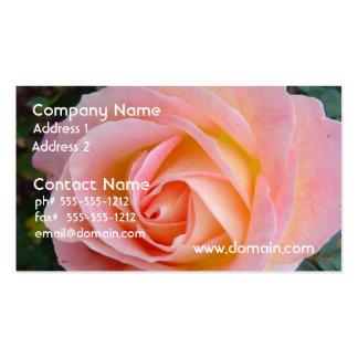 Color de rosa en colores pastel tarjeta de visita