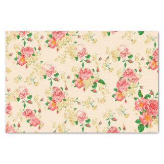 Color de rosa floral del vintage elegante papel de seda