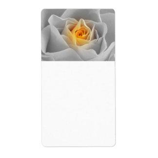 Color de rosa gris delicado etiquetas de envío