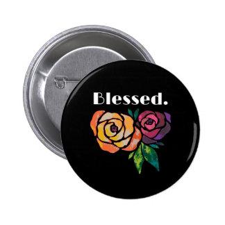 Color de rosa moderno bendecida del Pin del botón