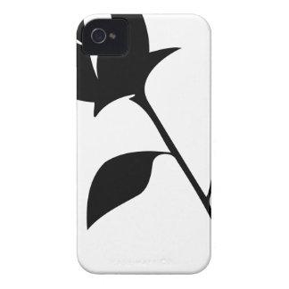 Color de rosa negro carcasa para iPhone 4