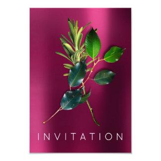 Color de rosa orgánico del cocinero de las invitación 8,9 x 12,7 cm