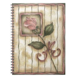 Color de rosa polvoriento cuaderno