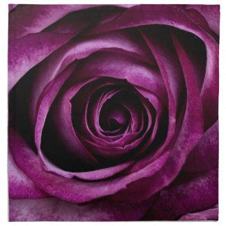 Color de rosa púrpura servilleta de tela