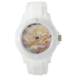 Color de rosa reloj de pulsera