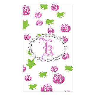 Color de rosa rosado bonito tarjeta de negocio