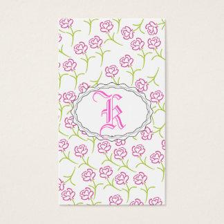 Color de rosa rosado bonito tarjeta de negocios