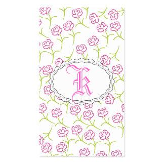 Color de rosa rosado bonito tarjetas de visita