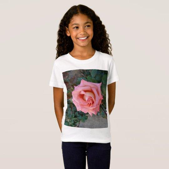 color de rosa rosado camiseta