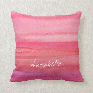 Color de rosa rosado moderno personalizada cojín decorativo