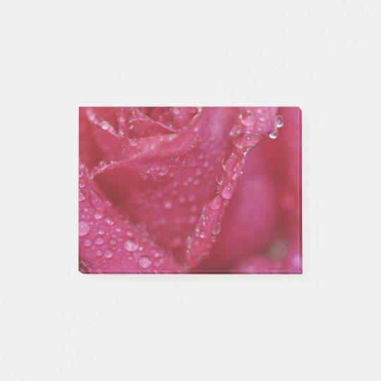Color de rosa rosado que relucir notas post-it®