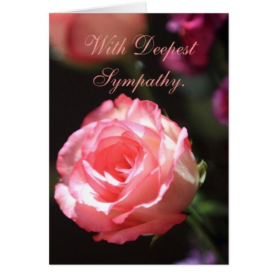 Color de rosa rosado, tarjeta de condolencia
