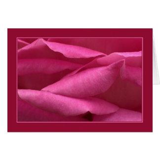 Color de rosa rosado tarjeta de felicitación