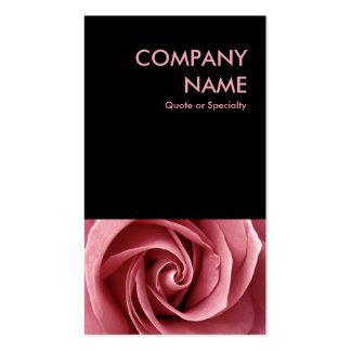 color de rosa rosado tarjetas de visita