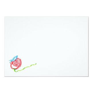 Color de rosa simple con las invitaciones de la invitación 12,7 x 17,8 cm