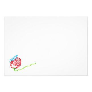 Color de rosa simple con las invitaciones de la ma invitacion personalizada