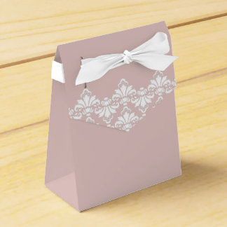 Color de rosa viejo del damasco del boda de la caja de regalos