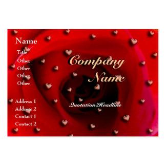 Color de rosa y corazones tarjeta de visita