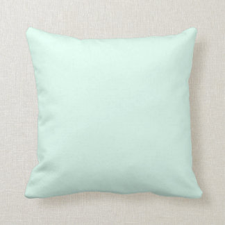 Color de verde menta ligero sólido de encargo cojín decorativo