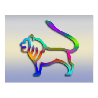 Color del arco iris de la muestra de la estrella d postal