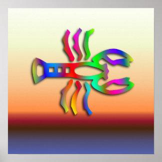 Color del arco iris de la muestra de la estrella d impresiones