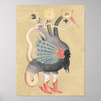 Color del dragón de la alquimia póster