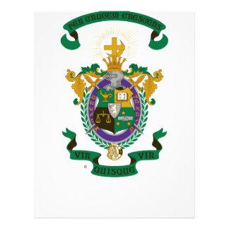 Color del escudo de armas de LCA Folleto 21,6 X 28 Cm