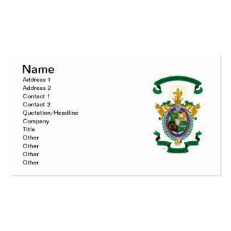 Color del escudo de armas de LCA Tarjetas De Visita