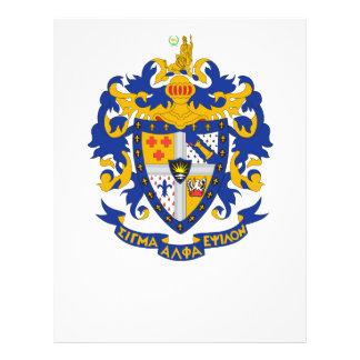 Color del escudo de armas del SAE Folleto 21,6 X 28 Cm