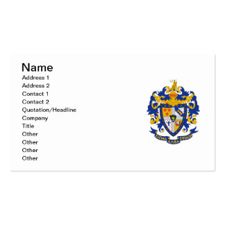 Color del escudo de armas del SAE Tarjeta De Visita
