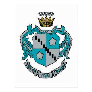 Color del escudo de ZTA Tarjeta Postal