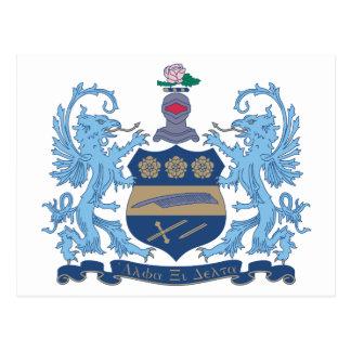 Color del escudo del delta de la alfa XI Tarjeta Postal
